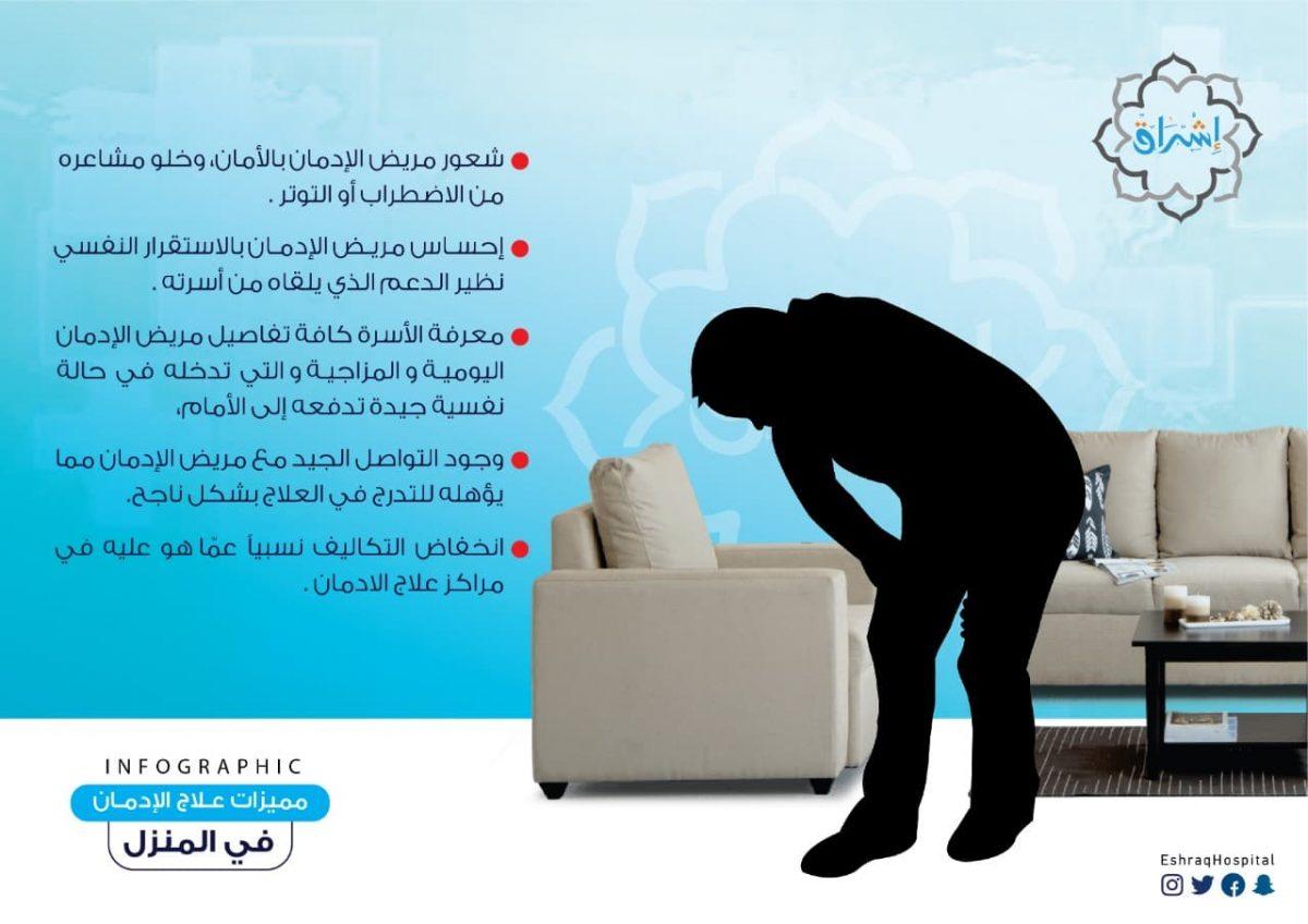 مميزات علاج الإدمان في المنزل