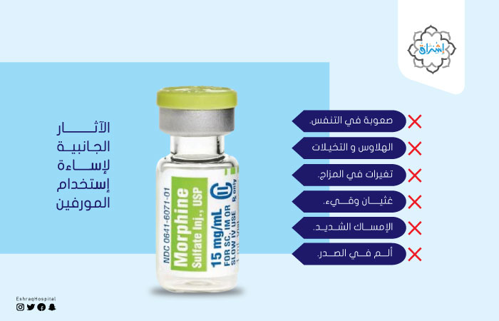 الآثار الجانبية لإساءة إستخدام المورفين؟