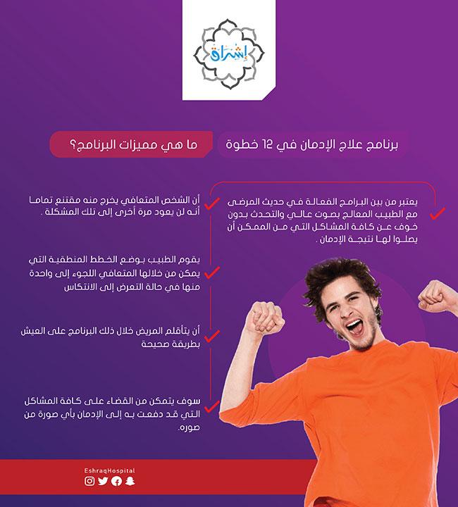مميزات برنامج الـ 12 خطوة لعلاج الإدمان