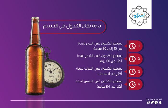 مدة بقاء الكحول في الجسم